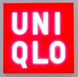 Signage UNI QLO Lizenzfreie Stockfotografie