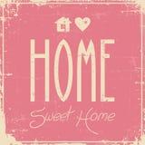 Signage van het huis Zoete Huis Uitstekende Retro Sjofel royalty-vrije illustratie