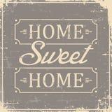 Signage van het huis Zoete Huis Uitstekende Retro Sjofel vector illustratie