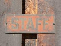Signage van het personeel royalty-vrije stock afbeelding