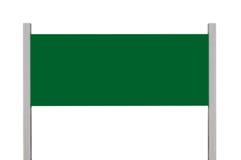 Signage vert de panneau de signe en métal, l'espace vide vide d'isolement de copie de rectangle d'enseigne de bord de la route, g image libre de droits