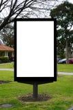Signage vide vide de panneau d'affichage photo stock
