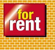 Signage voor huur Stock Fotografie