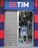 Signage W?oska firma telefoniczna ?Tim, Telecom Italia ?- obrazy stock