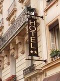 Signage zum Hotel, hotelsign Lizenzfreies Stockfoto