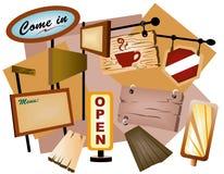 Signages Stock Photo