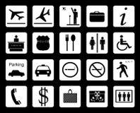 Signages d'aéroport Photographie stock libre de droits