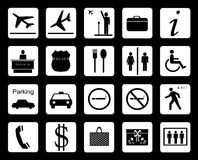 Signages do aeroporto Fotografia de Stock Royalty Free