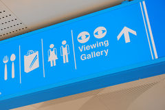 Signages in a shopping mall Stock Photo