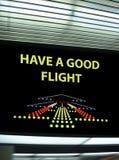 signageturist för flygplats info arkivbilder