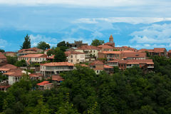 Signaghi staden av Lovein Georgia Arkivfoton