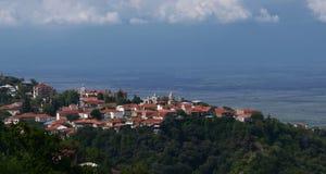 Signagi和阿拉扎尼河谷看法  乔治亚的受欢迎的旅游胜地 图库摄影