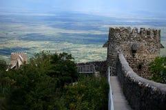 Signagi Ansicht zum Alazani Tal Lizenzfreies Stockbild
