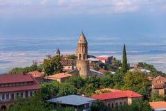 Signagi miasteczko przy Kakheti regionem w Gruzja zakończenia widoku Zdjęcie Stock