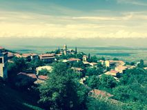 Signagi, uma cidade em Geórgia Signagi conhecido como a cidade do amor em Geórgia Fotos de Stock Royalty Free