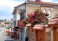 Signakhi - stad i öst av Kahetia, i 30 kms , till öst från områdesmitten Telavi Royaltyfri Bild