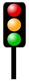 The signal. A traffic signal with different colors like red,green,orange Royalty Free Stock Images