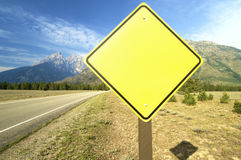 Signal, add text. Siganl in Grand Teton National Park; Wyoming; Usa Royalty Free Stock Images