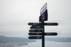 Wanderlust in norway royalty free stock photography