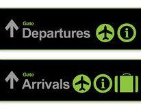 Signal arrival - departures from the airport Stock Photos