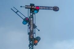 Signal av järnvägen royaltyfri bild