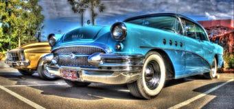 2 signal blåa Buick Royaltyfri Fotografi