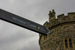 Signal board. Of the windor castle Stock Image
