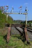 Signal-Bock an Swanwick-Kreuzung stockfotografie