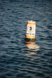 Signal buoy speed limit Royalty Free Stock Images