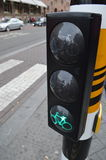 Signal for bycicle. In Netherlands Stock Photography