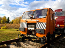 Signal car. Old signal cars used to transport railway works to their job site Stock Image
