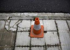 Danger signaling cone royalty free stock image