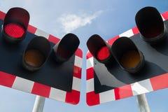 Signal d'alarme ferroviaire Image libre de droits