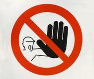 Signal d'avertissement?.Arrêt Images libres de droits