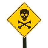 Signal d'avertissement, chemin de découpage. Photo libre de droits