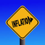 Signal d'avertissement d'inflation Images stock