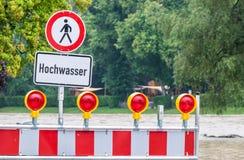Signal d'avertissement d'inondation images libres de droits