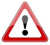 Signal d'avertissement de danger illustration stock