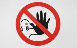 Signal d'avertissement de danger Photos stock