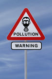 Signal d'avertissement de pollution Images stock