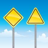 Signal d'avertissement de route Image libre de droits