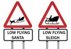 Signal d'avertissement du traîneau de Santa illustration libre de droits