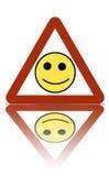 Signal d'avertissement heureux de zone image libre de droits