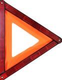 Signal d'avertissement orange de triangle Photo libre de droits