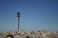 Signal de direction Photographie stock