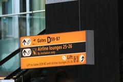 Signal de direction d'aéroport image libre de droits