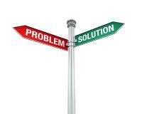 Signal de direction de problème et de solution Image stock