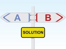 Signal de direction de solution Image stock