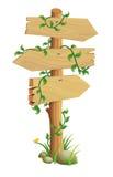 Signal de direction en bois Images libres de droits
