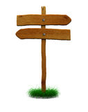 Signal de direction en bois Photographie stock